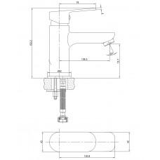LASKA cмеситель для раковины Imprese 05040 (25) 05040 (25)