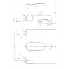 LESNA cмеситель для ванны Imprese 10070
