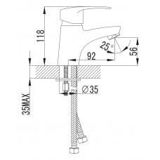 LIDICE смеситель для раковины Imprese 05095