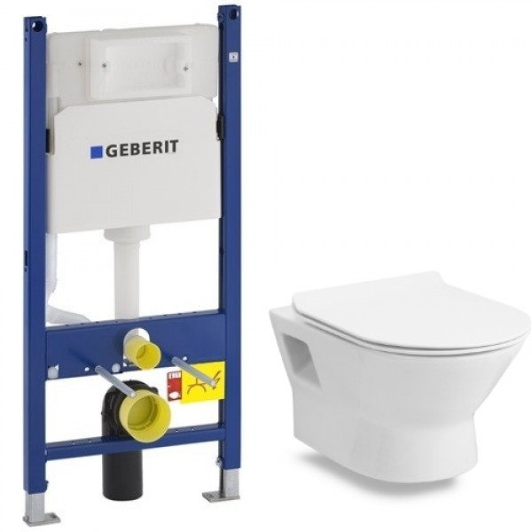 Инсталляция Geberit Duofix 458.126.00.1 комплект унитазом подвесной Volle FIESTA RIM 13-77-034 с сиденьем slim slow-closing