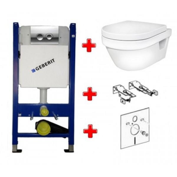 Инсталляция Geberit 458.161.21.1 с унитазом Gustavsberg 5G84 Hygienic Flush + сиденье SoftClose