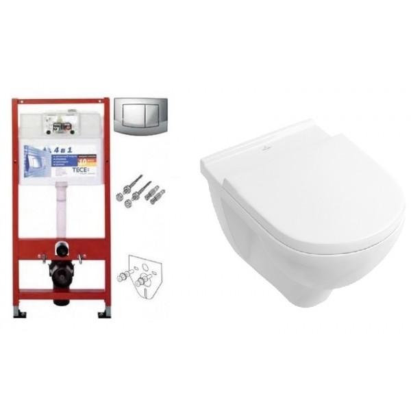 Инсталляция TECE 9400005 комплект с унитазом Villeroy & Boch O.Novo 5660HR01 Direct Flush+SofClose