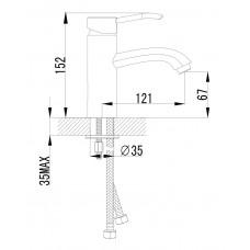 MORAVA смеситель для раковины Imprese 05220