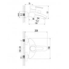 MORAVA смеситель для ванны Imprese 10220