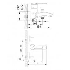 MZE смеситель для ванны Imprese 10130