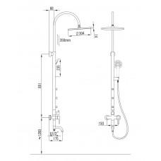 NAHORU система душевая (смеситель для ванны Imprese T-10500