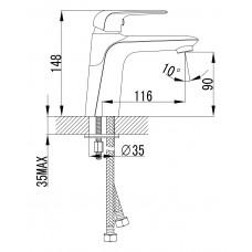 NOVA OPAVA cмеситель для раковины Imprese 05075