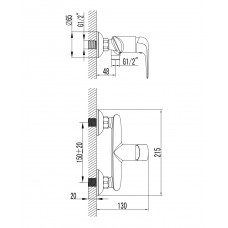 NOVA OPAVA смеситель для душа Imprese 15075