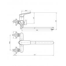 PRAHA new смеситель для ванны Imprese 35030 new