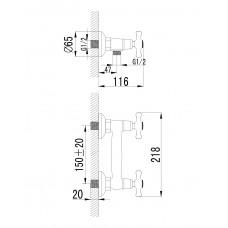 RALSKO NEW двухвентильнный смеситель для душа 15240NEW