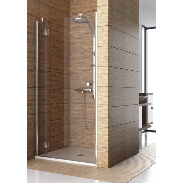 Распашные двери для монтажа со стенкой, SOL DE LUXE 80 левая 103-06062