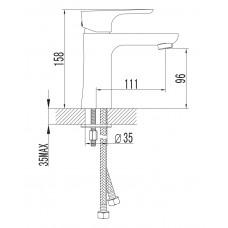 VALTICE смеситель для раковины Imprese 05320