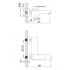 VALTICE смеситель для ванны Imprese 10320