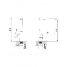 VALTICE смеситель для кухни Imprese 55320
