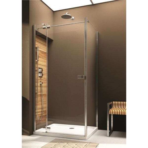 Душевая дверь для монтажа со стенкой VERRA LINE80 103-09380 левая