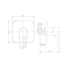 BRECLAV смеситель скрытого монтажа для душа, хром/белый, 35мм VR-15245WZ Imprese VR-15245WZ