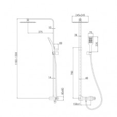 ODLOVE система душевая (смеситель для душа Imprese T-15300