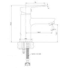 LASKA cмеситель для раковины Imprese 05040 (35)B