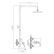 WITOW система душевая (смеситель для ванны Imprese T-10080